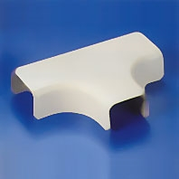 "HellermannTyton TSR1-21-1 Tee Cover with 1"" Bend Radius for TSR1 Surface Raceway"